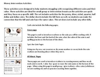 Money Intervention Activities