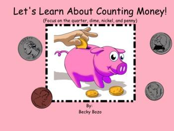 Money Introduction Smart Board Lesson - Quarters, Dimes, N