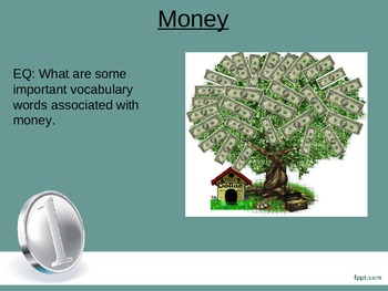 Money Introduction to Thematic Vocabulary Unit ESL/ELL