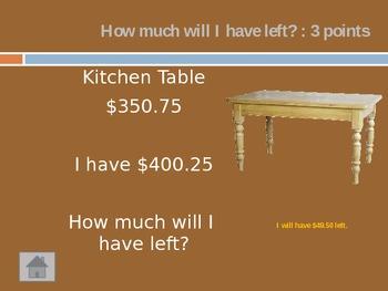 Money Jeopardy Game