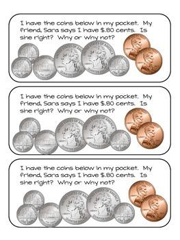 Money Journal Math Prompts Vol. 2