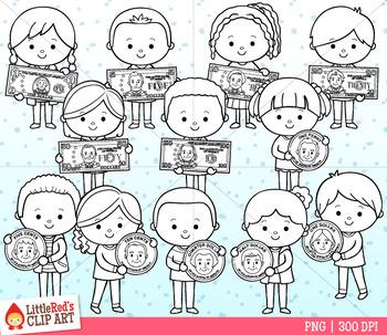 Money Kids Clip Art