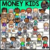 Money Kids Clip Art Set {Educlips Clipart}