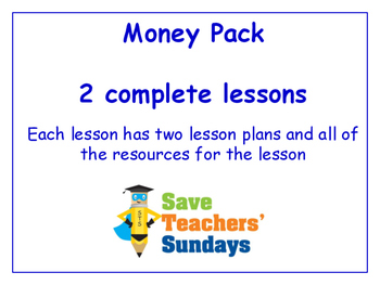 Money Lessons Bundle / Pack (2 Lessons for 2nd to 4th grade)