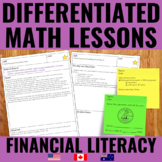 Financial Literacy | Money Lessons for Guided Math - Diffe