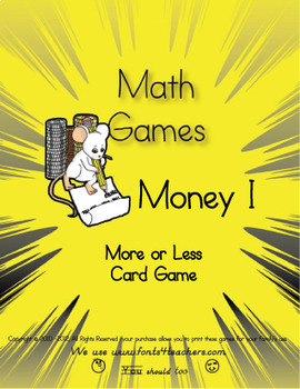 Money Level One More Or Less Card Game