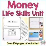 Money Life Skills Unit For Special Education (Autism Resource)