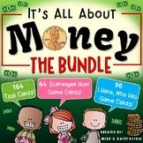 Money BUNDLE {Task Cards, Scavenger Hunt & I Have, Who Has Games}