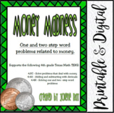 TEKS:4.8C, 4.4A, 4.4H / Money Madness: Adding/Subtracting Decimals