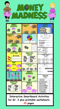 Money Madness Interactive Smartboard Activities and Printa