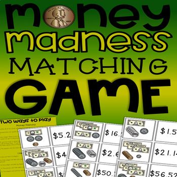 Money Madness Matching Game