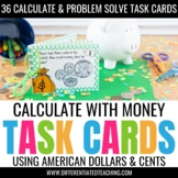 36 Money Task Cards: Counting Money, Making Change, & Problem Solving