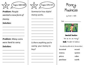 Money Madness Trifold - Wonders 2nd Grade Unit 6 Week 4