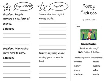 Money Madness Trifold - Wonders 2nd Grade Unit 6 Weeks 1-2 (2020)