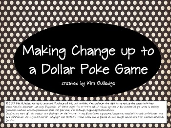 Money: Making Change up to $1.00 and $5.00 Bundle