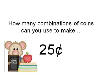Money : Making Combinations of the Same Amount