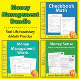 Money Management Math Word Problems & Vocabulary {Bundle}
