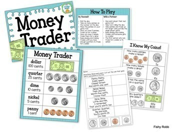 Money Games and Math Centers Bundle: Identifying and Counting Coins
