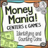 Money Games and Math Centers Bundle Identifying and Counting Coins