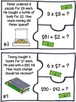 Money Mania! Two-Step Word Problems