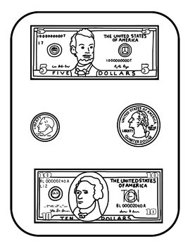 Money Match File Folder Game