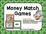 Money Match Games (Second Grade CCSS 2.MD.8)