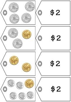 Money Match Price Tags to $2 to $5 - Australian Money