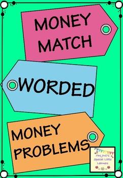 Money Match Price Tags Worded Money Problems - Australian Money