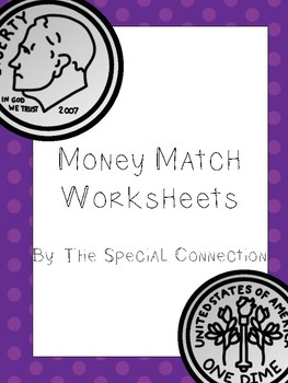 Money Match Worksheets