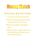 Money Match for penny, nickle, dime, quarter and dollar