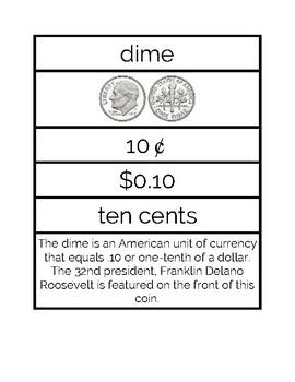 Money Matching Cards