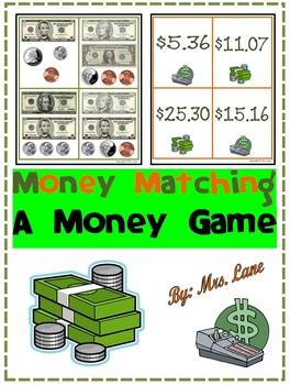 Money Matching Game