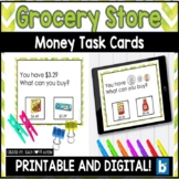 Grocery Store Money Activities | Counting Money Task Cards