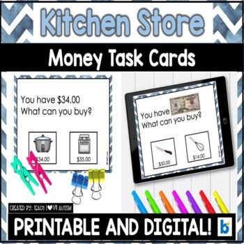 Money Matching Task Cards: Kitchen Shop Edition