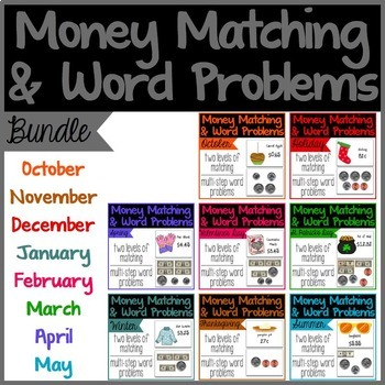 Money Matching & Word Problems {Bundle}