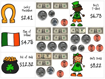 Money Matching & Word Problems {St. Patrick's Day}