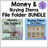 Money Matching and Buying Items File Folder BUNDLE for Special Education