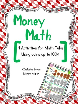 Money Math {4 counting coins activities for math tubs}