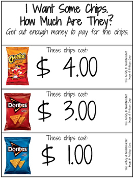 Money Math Activity or Center: I Want Chips