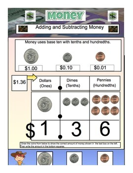 Money-Math- Adding & Subtracting Money US Version 36 Page PDF File