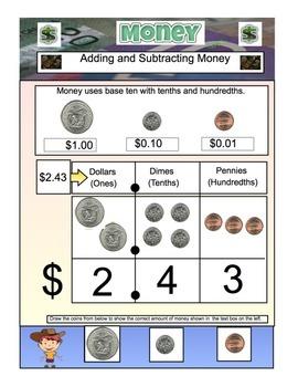 Money-Math- Adding & Subtracting Money US Version 36 Page PDF File