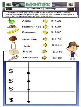 Money - Math - Adding and Subtracting Money