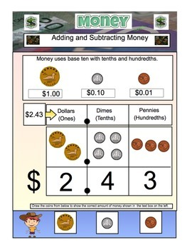 Money (Canadian)-Math -Adding and Subtracting Money PDF Fi