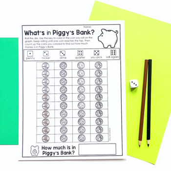 Money Games, Centers, and Task Cards for 1st and 2nd Grade