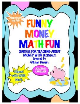 Money Math Centers Shopping Activity