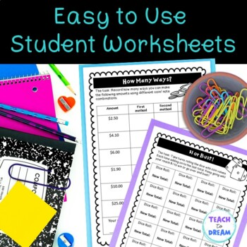 Money Math Choice Grid: Tasks, Activities and Worksheets