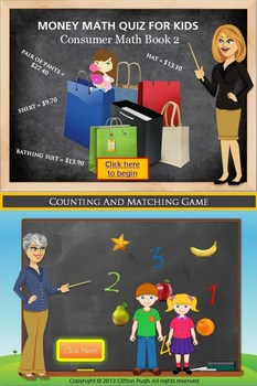 Money Math Consumer Math Book 2/Counting And Matching Game Bundle Pack