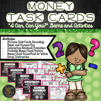 Money Task Card Game and Activities