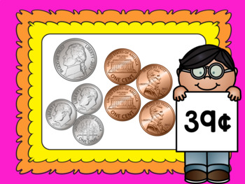 Money Math – Counting Coins Set 2 – Pennies, Nickels and Dimes