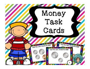 Money Math Counting Coins Task Cards